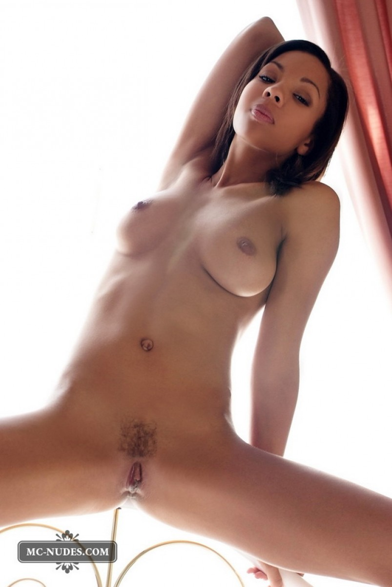 Perfect Nude Ebony Model-2389