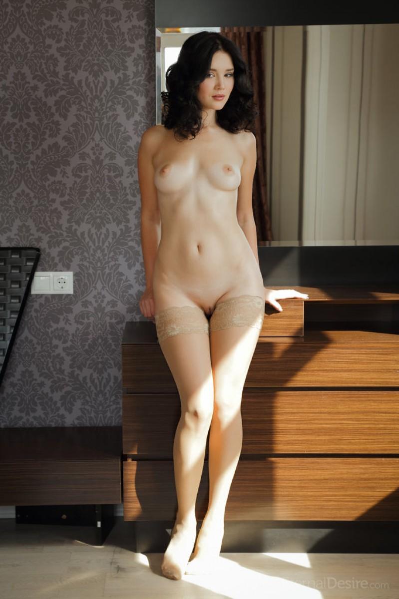 Malena Fendi In Tan Stockings-4983
