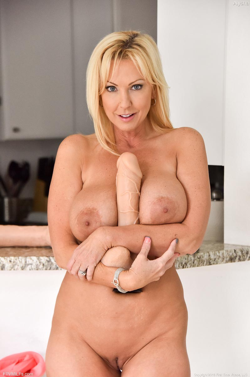 Busty Blonde Milf Fucks A Monster Dildo-7796