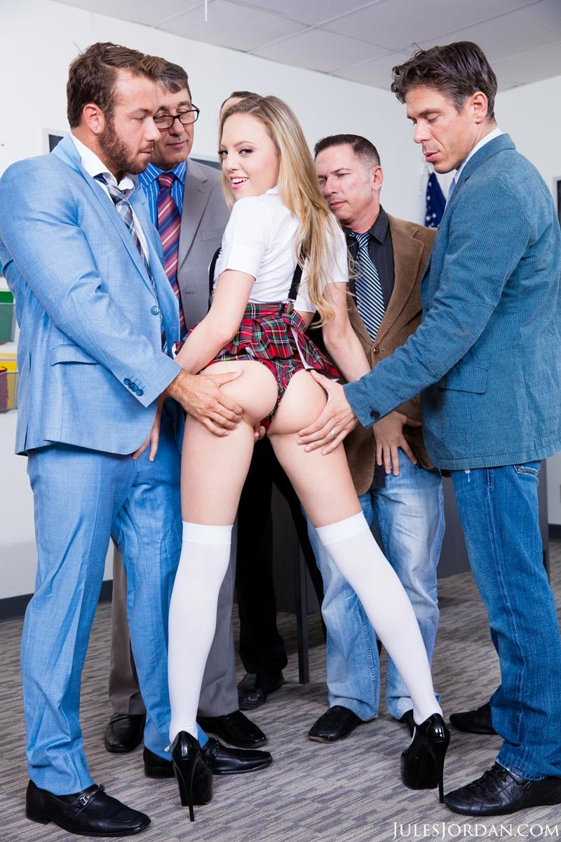 Aubrey Star Strips In The Classroom-6358