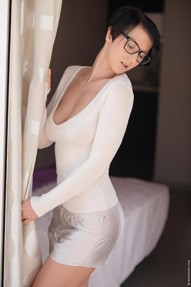 Nicoleta Emilie Wearing Sexy Glasses-6211