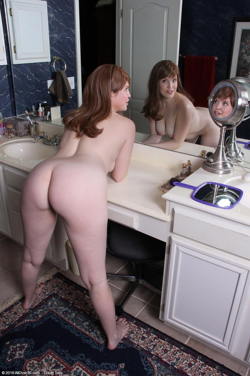 Holly Fuller Spreads In Front Of A Big Mirror-5487