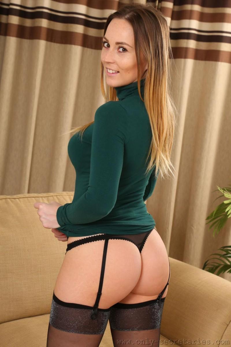Secretaries in stockings