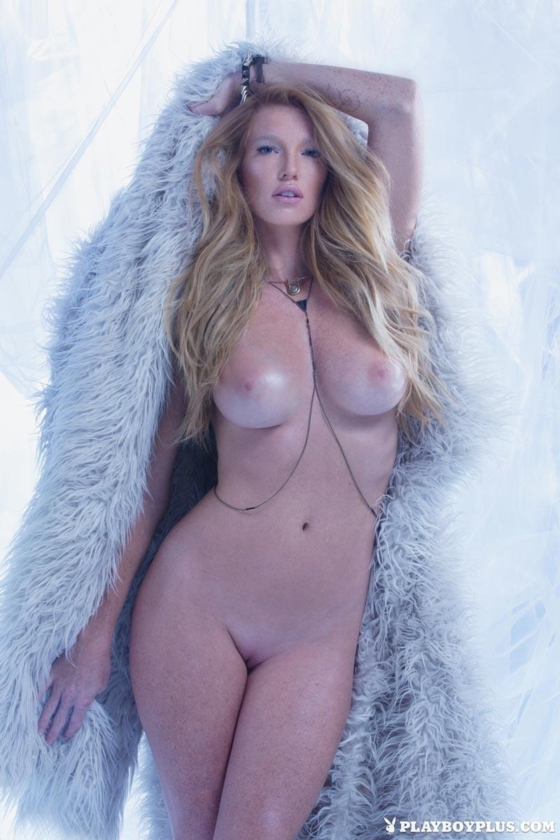 Big tits fur coat