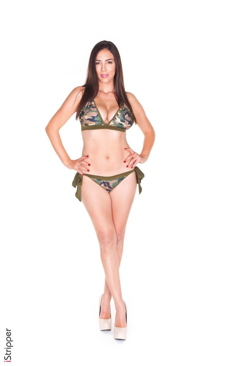 Sex photo big tits in camo bikinis