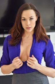 Chanel Preston in a Tight Miniskirt