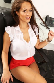 Felicity Hill Office Baby in Shiny Pantyhose