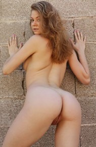Maria Pie Naked Against the Wall