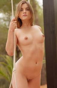 Evelina Darling Naked on a Swing