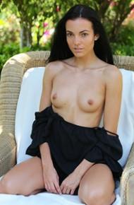 Sapphira A Naked in the Backyard