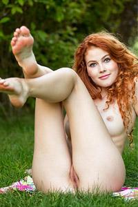 Heidi Romanova in the Garden