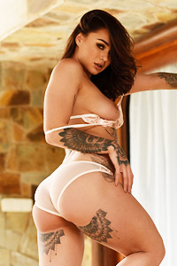 Mica Martinez in her Lingerie