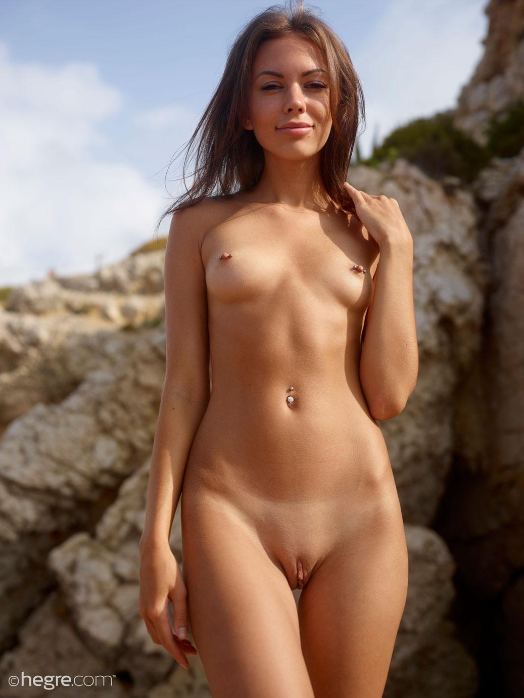 Karina Naked At The Beach-5775