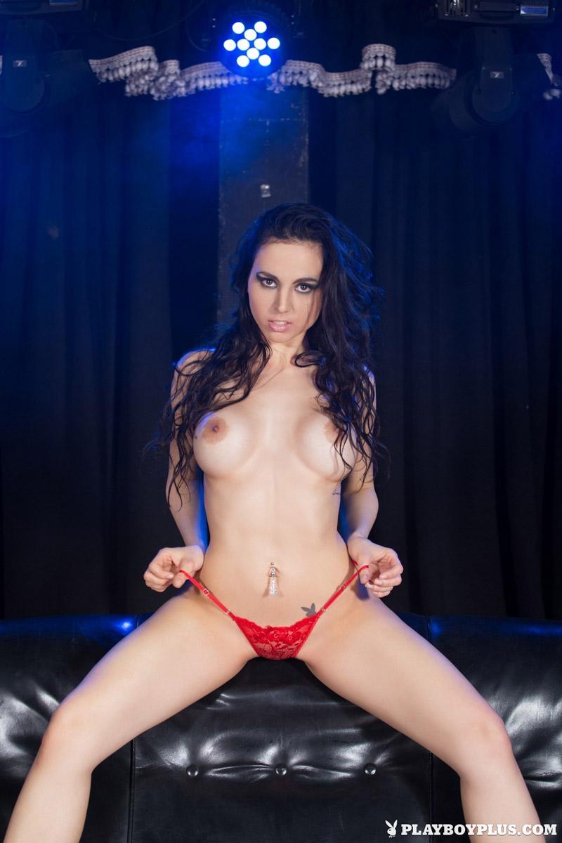 Flavia Playboy flavia de celis in a red thong