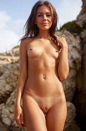 Karina Naked at the Beach