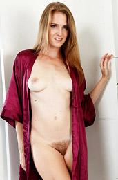 Ashley Lane Wearing a Silky Robe