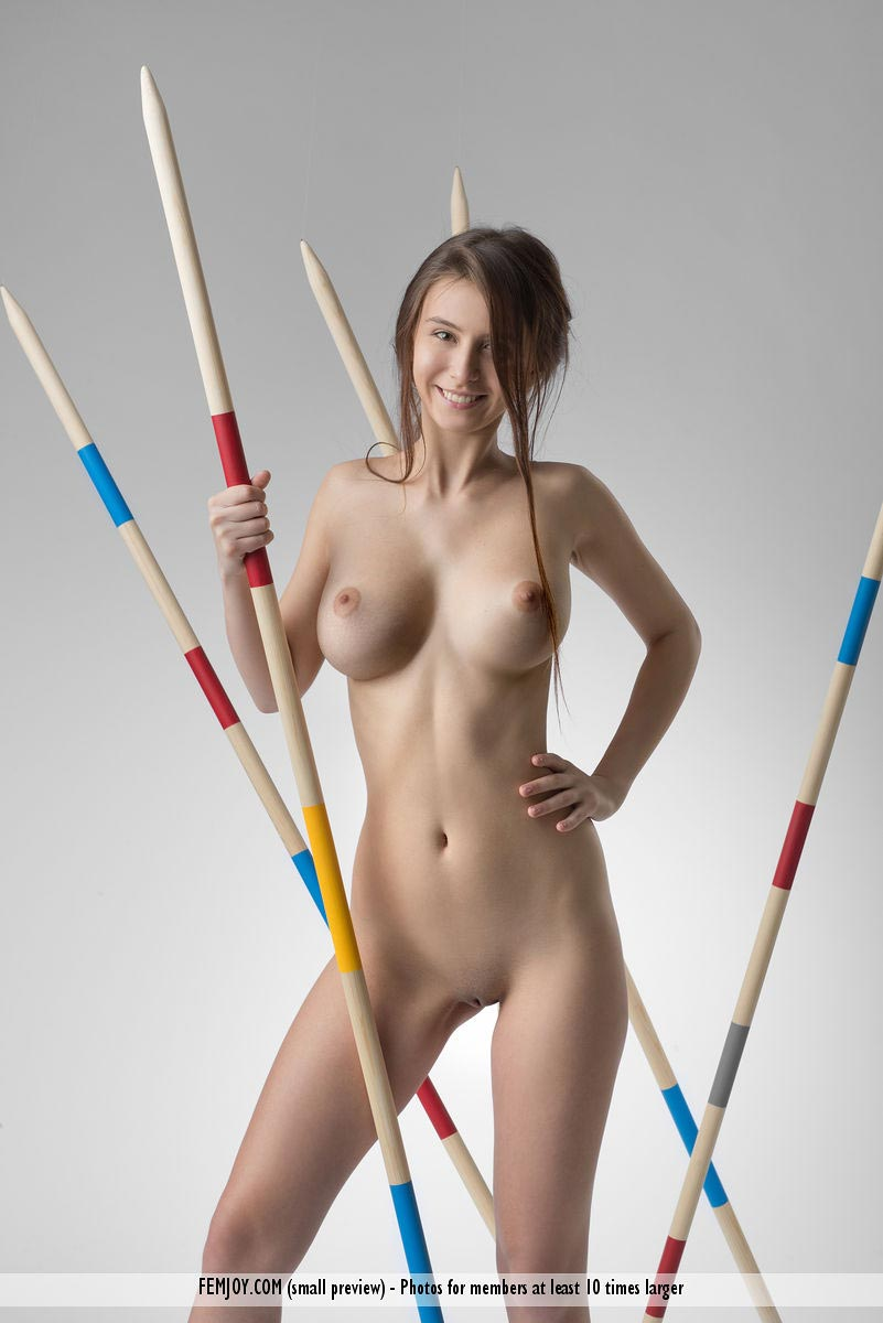 Alisa I Posing Naked With Spears-6113