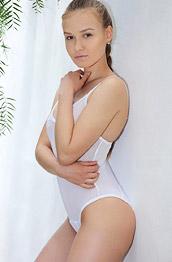 Angel B Sheer White Bodysuit