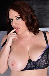 Maggie Green Busty Wife in Sheer Lingerie