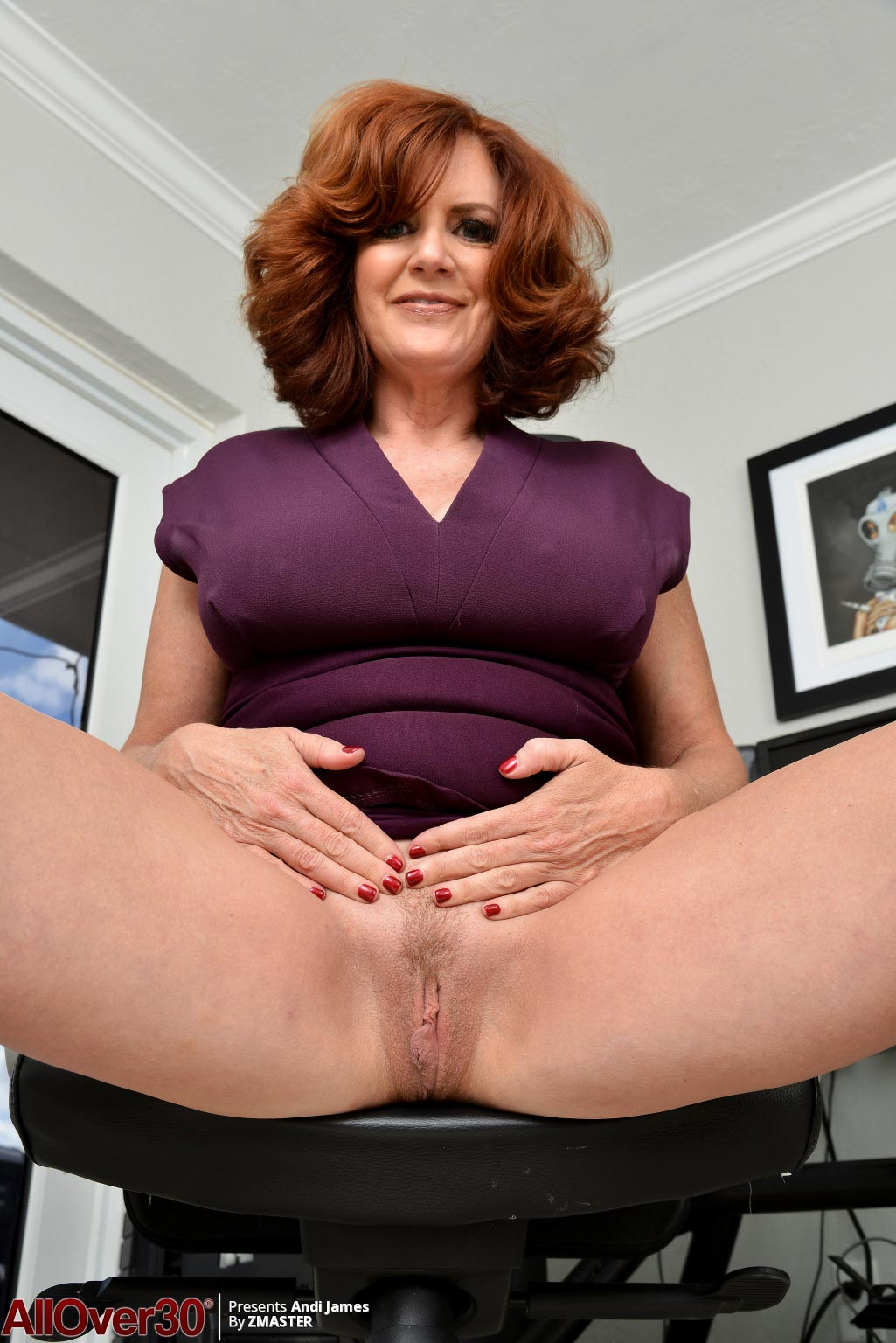 Andi James Hot Cougar in the Office