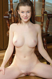 Emily Bloom Naked in a Chair