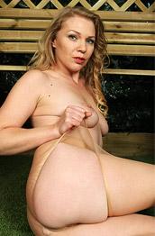 Abi Toyne Posing in Ripped Pantyhose