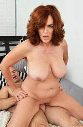 Andi James Thick Redhead Cougar in Action