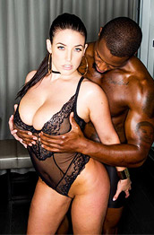 Angela White Busty Aussie Rides a Black Cock