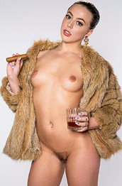 Whitney Wright Naked in a Fur Coat