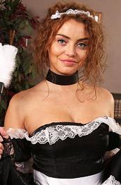 Beth Dressed as a Sexy Maid