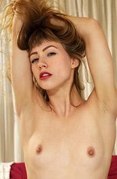 Ivy Wolfe Dark Blonde Strips in her Room