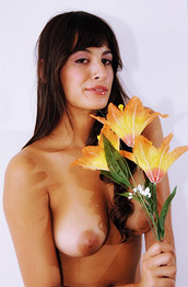 Lola F Nude Brunette with Tan Lines