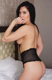 Black Fox Naked in a Hotel Bedroom