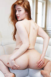 Jia Lissa Trimmed Redhead Exposed