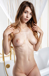 Mila Azul Naked in a Bathtub
