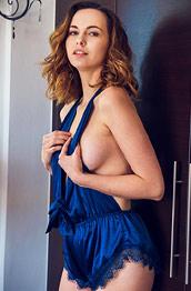 Nasita Takes off her Sexy Bodysuit