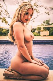 Sara Louise Poolside Striptease