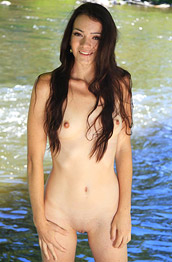 Victoria F Naked by the River