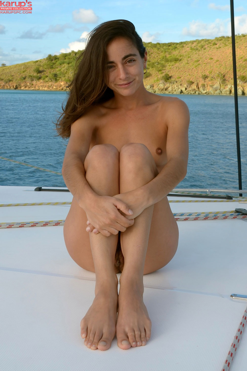naked in a boat