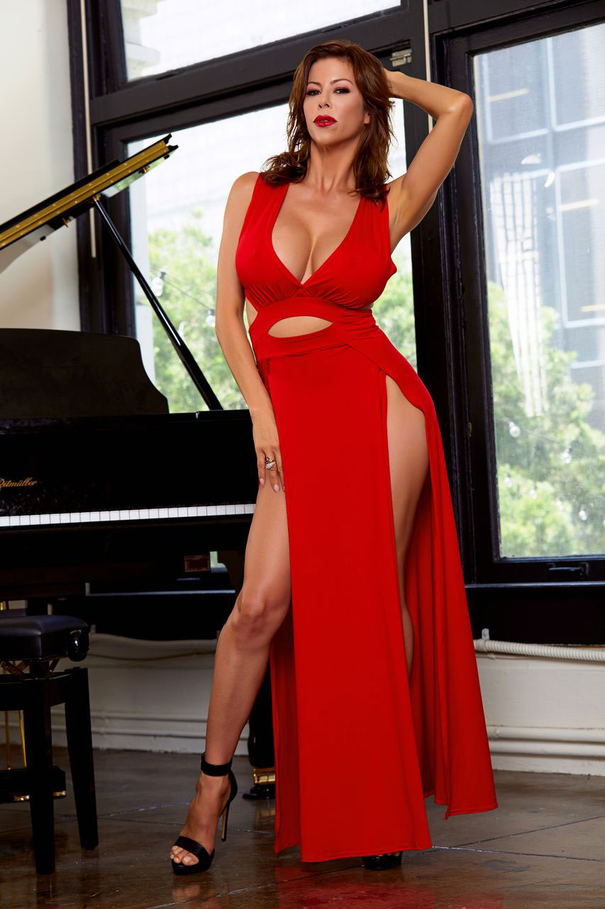 Alexis Fawx In A Red Dress-9388