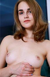 Olga Z Nude Perky Brunette
