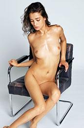 Sashenka Sensual Girl in a Chair