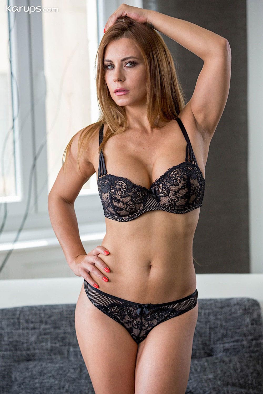 Black lingerie strip