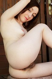 Night A Hairy Pale Girl Spreading