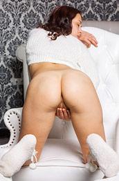 Karina in White Panties