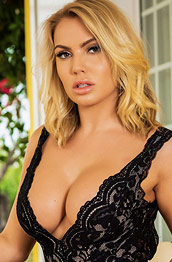 Electra Morgan Rock Hard Blonde in a Dress