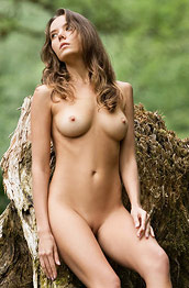 Clover Nude in the Green Outdoors