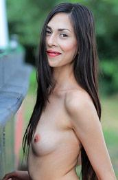 Lady Cate Tiny Naked Brunette
