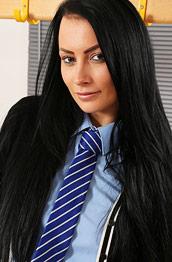 Kelli Smith Strips off her Uniform