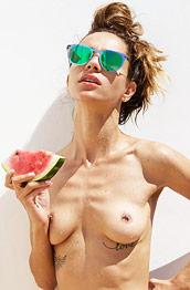 Rosa Fun with a Watermelon